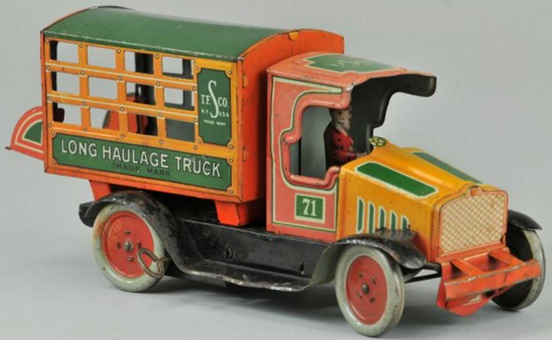 strauss 71 tin toy truck long haulage
