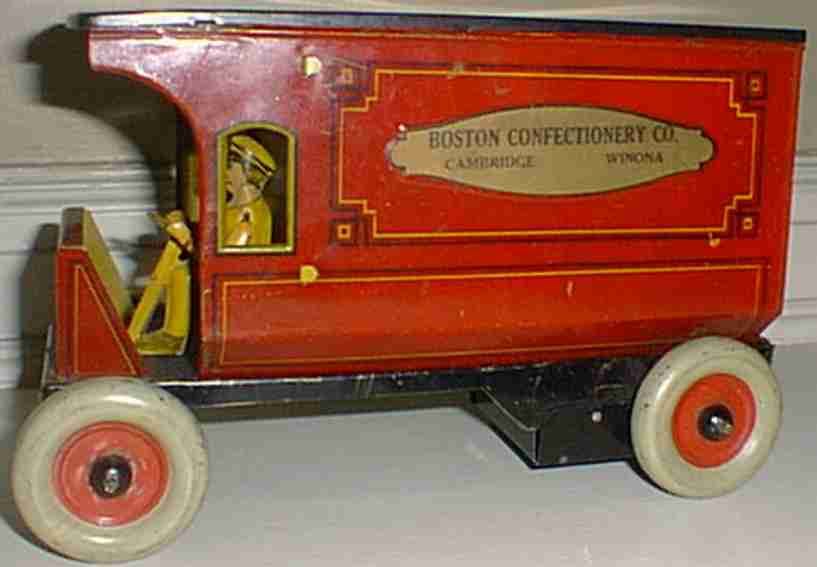 strauss ferdinand 92 tin toy boston confectionary van red