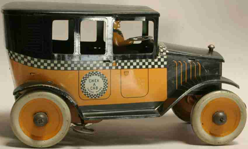 strauss 69 tin toy car driver clockwork