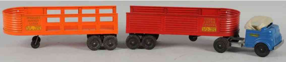 structo 706 pressed steel toy truck cab and trailer set 702 704