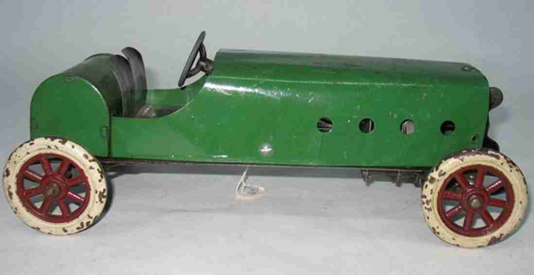 structo pressed steel toy race car green