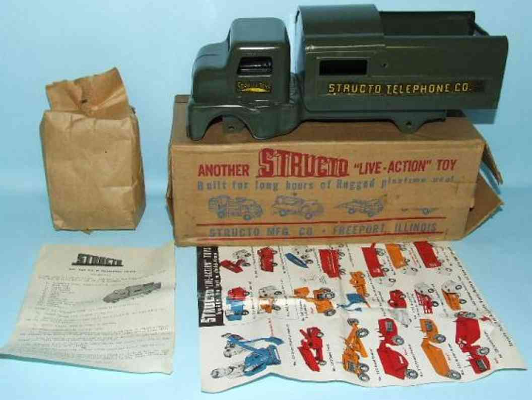 structo 920 pressed steel toy telephone truck