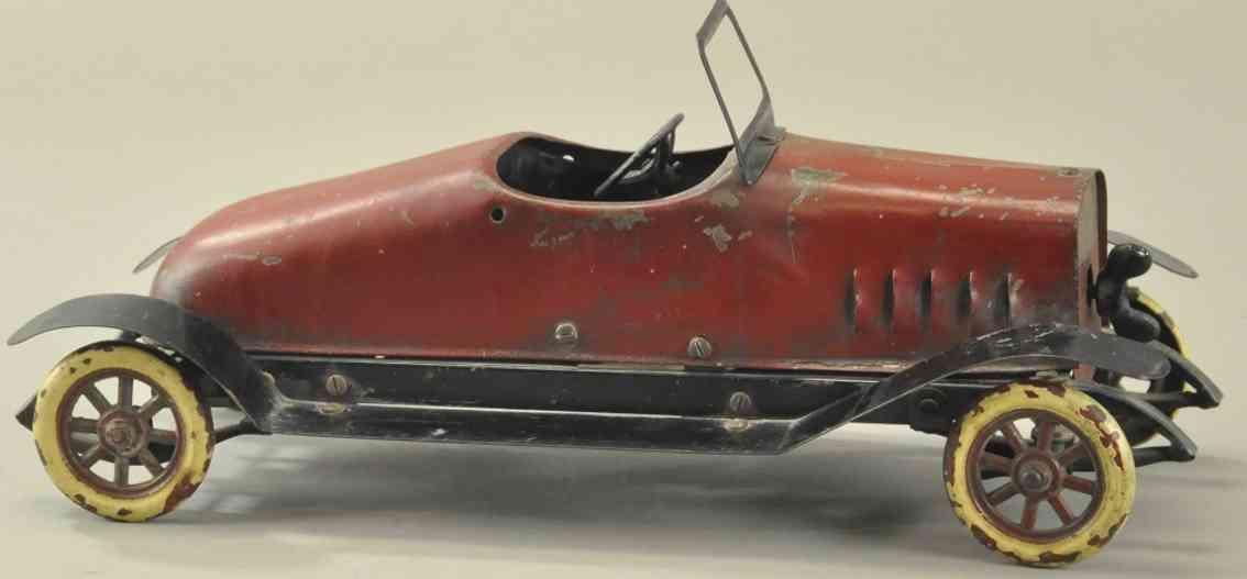 structo stahlblech spielzeug baukasten auto rot schwarz