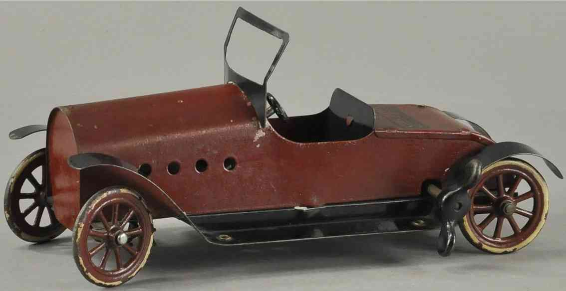 structo blech spielzeug auto cabrio dunkelrot schwarz