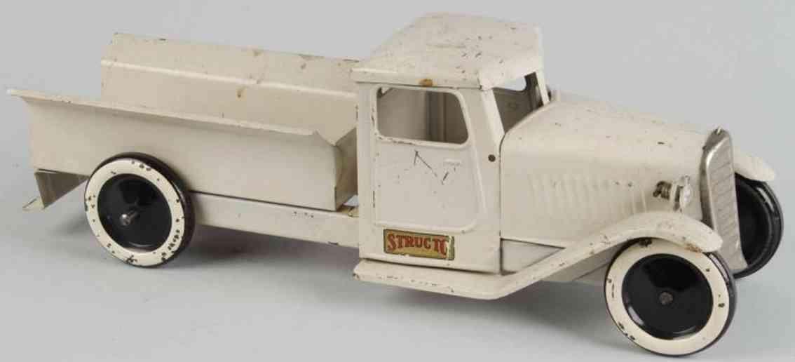 structo stahlblech spielzeug lastwagen lieferwagen weiss