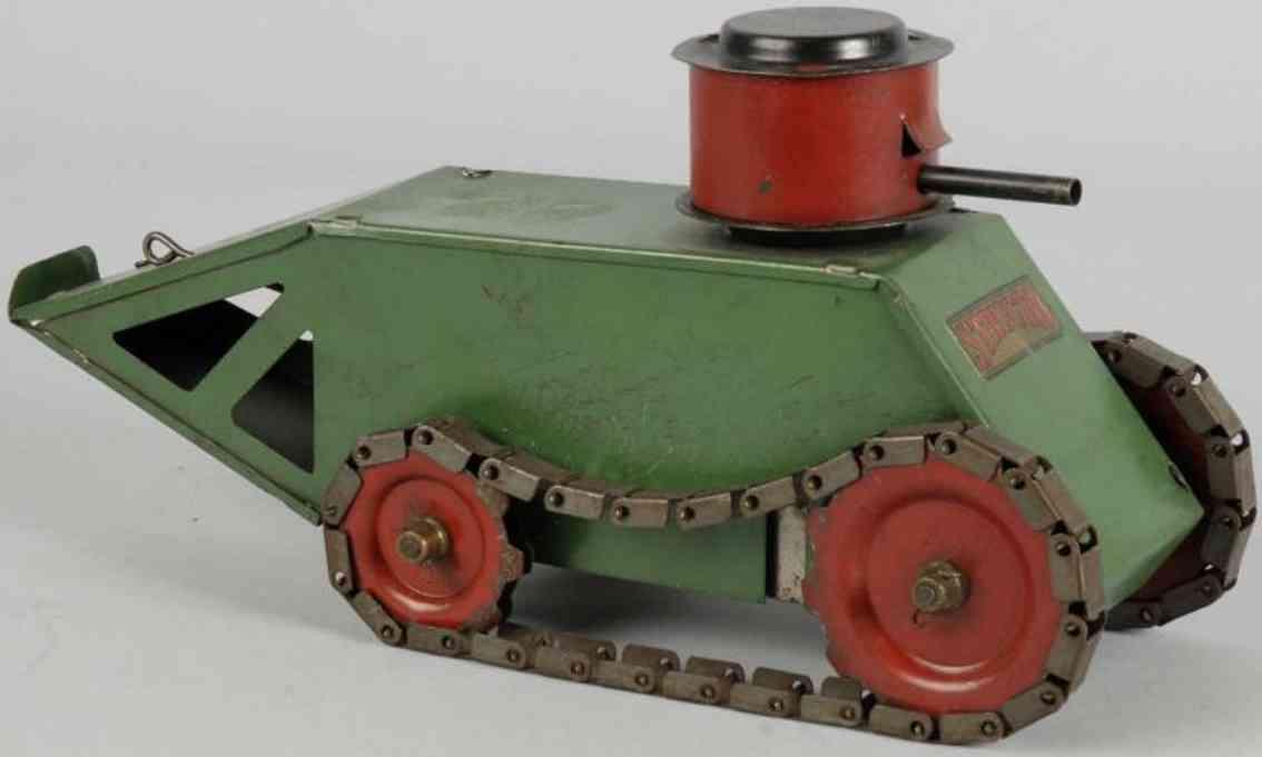 structo stahlblech spielzeug panzer erster weltkrieg