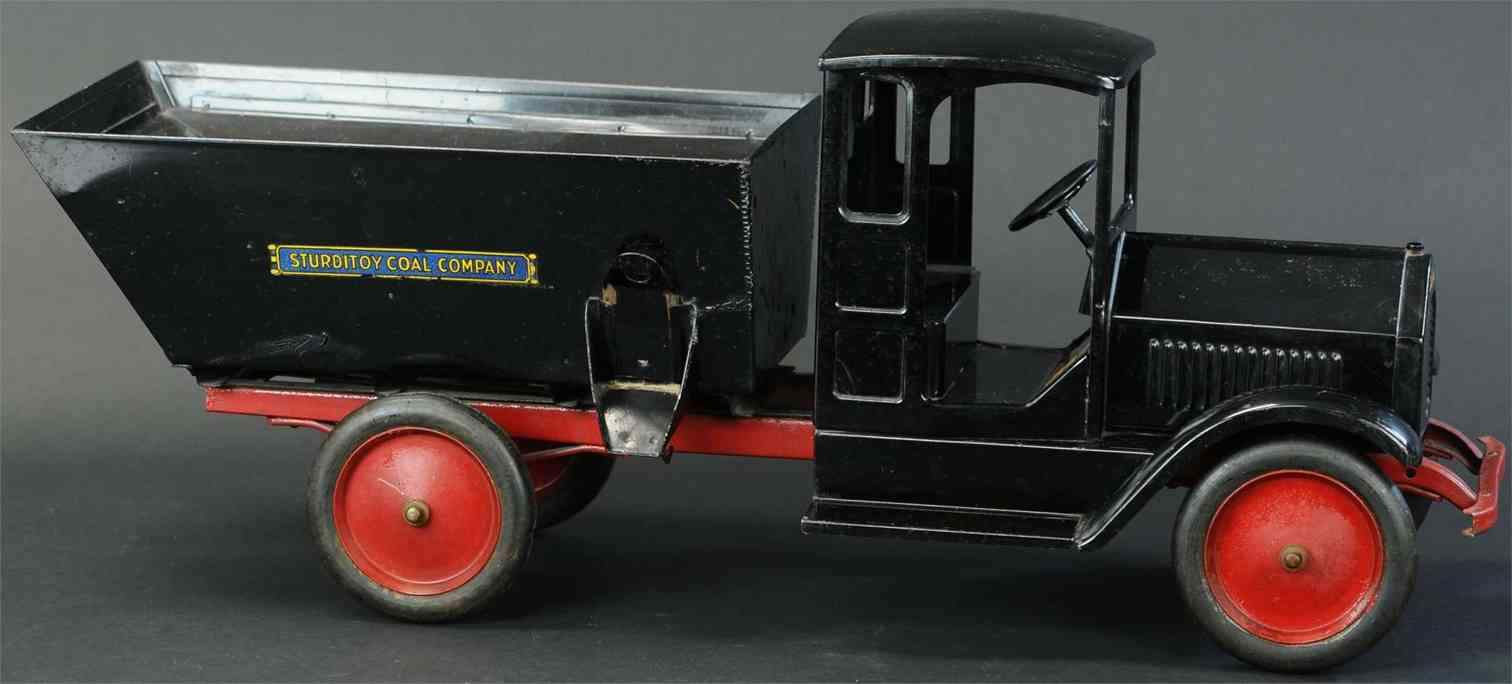 sturditoy pressed steel toy coal truck black