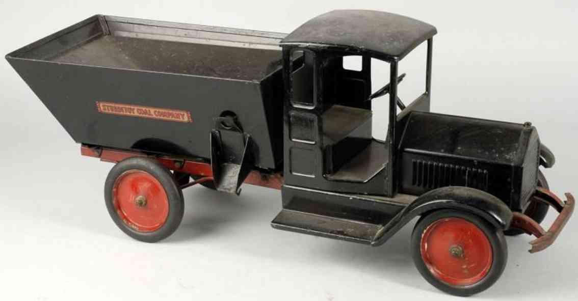sturditoy pressed steel toy coal truck