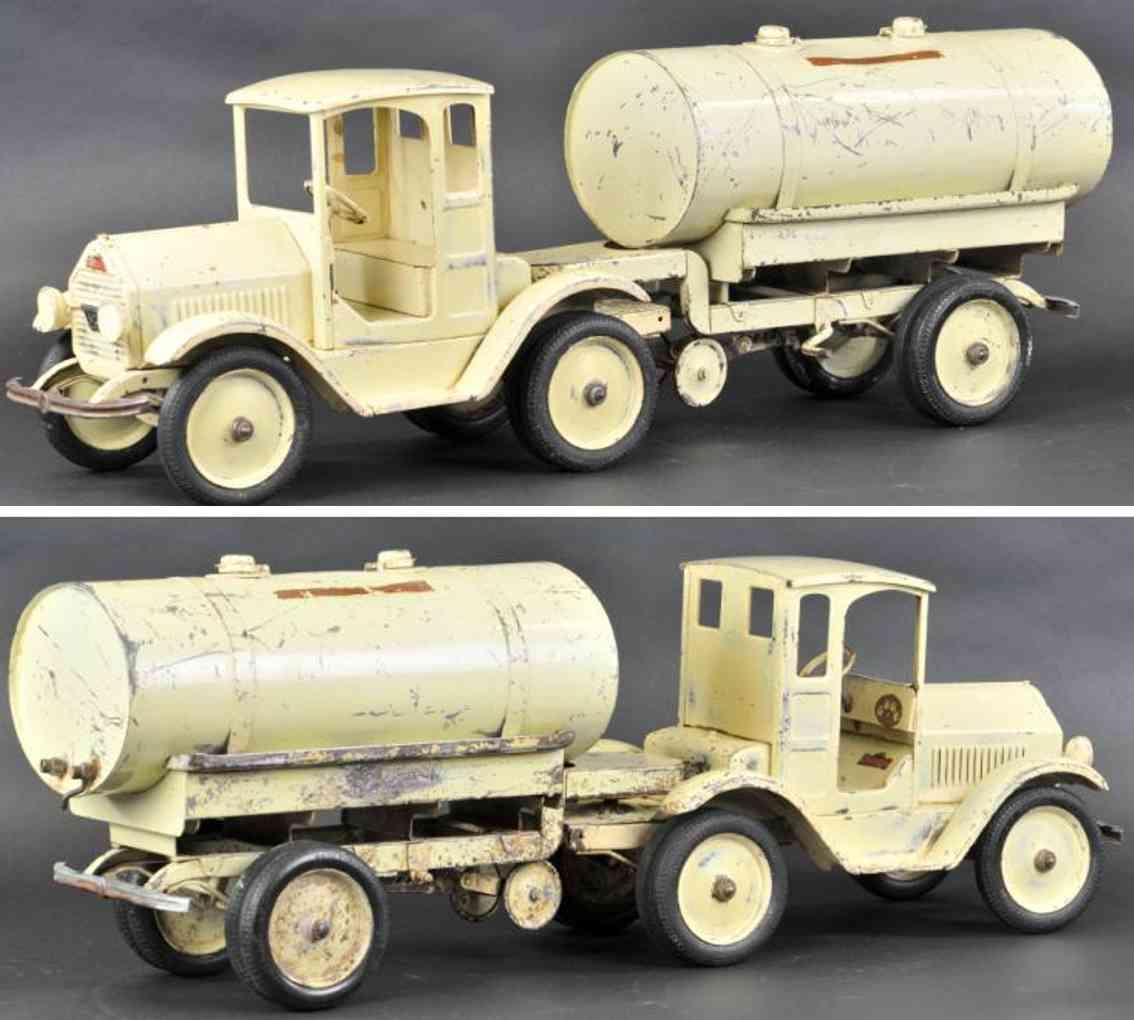 sturditoy stahlblech spielzeug lastwagen milch-lastwagen weiss