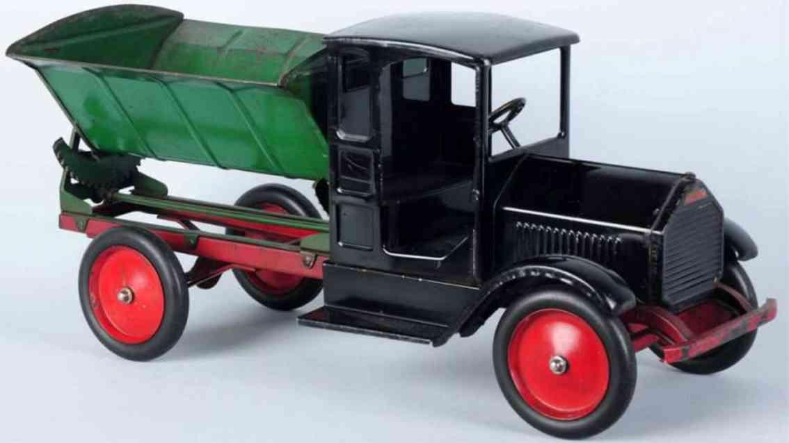 sturditoy blech spielzeug seiten-kipplastwagen