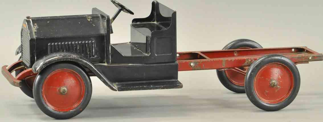 sturditoy blech spielzeug offene kabine und rotes untergestell lastwagen