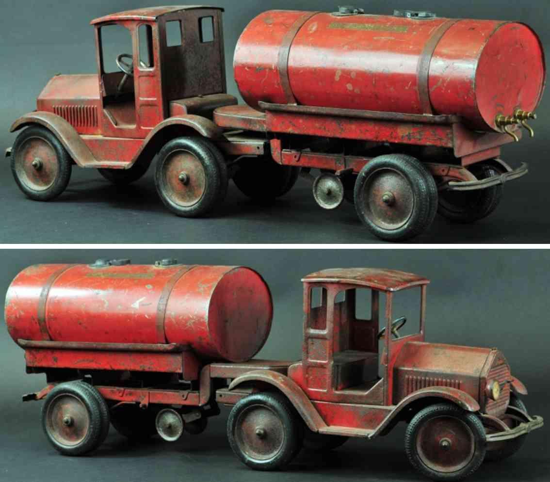 sturditoy stahlblech spielzeug tanklastwagen rot