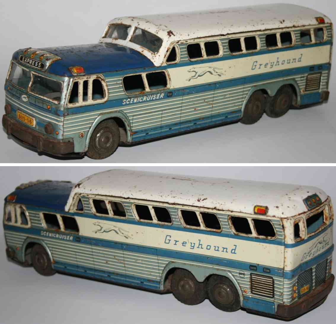 tatsuya shoten kts tin toy bus greyhound scenicruiser