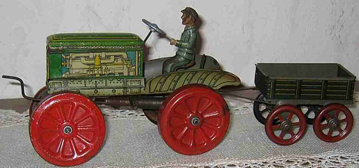 Technofix 178a Traktor mit Fahrer und Anhänger