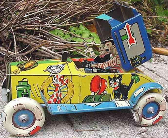 Technofix 192 Auto mit aufspringendem Akrobat Pat und Patachon