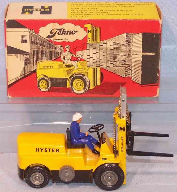 tekno 864 blech spielzeug stapler lift truck