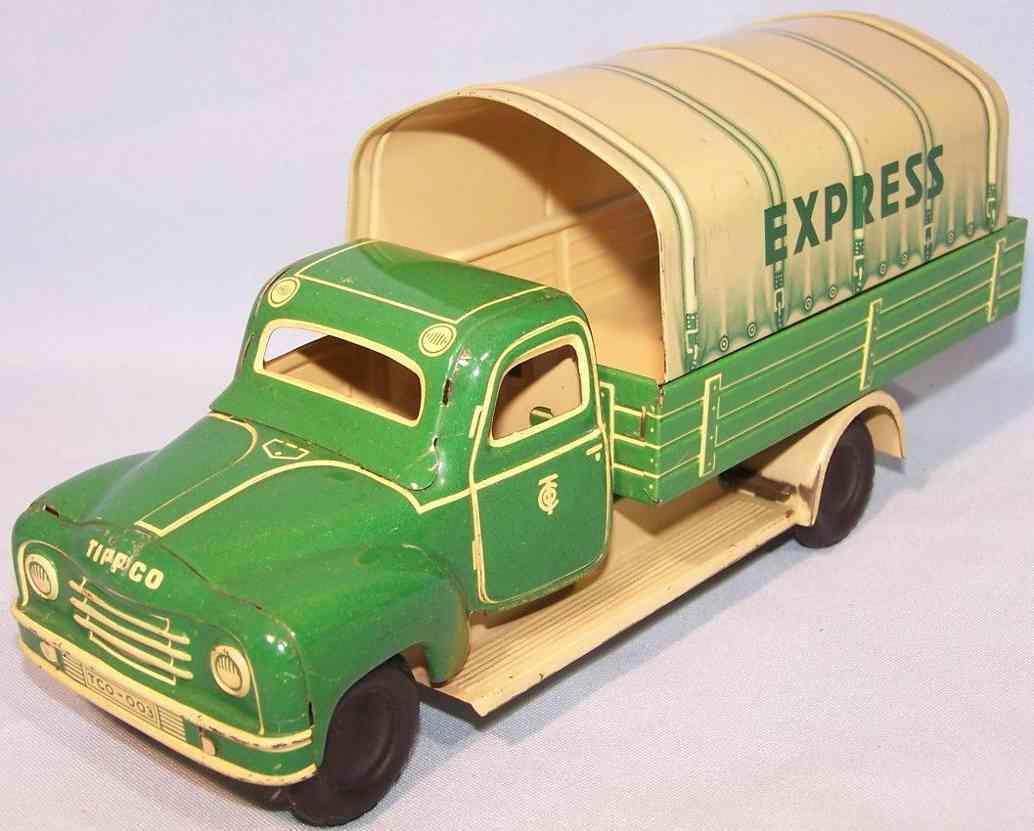 tippco blech spielzeug lastwan hanomag express lastwagen gruen