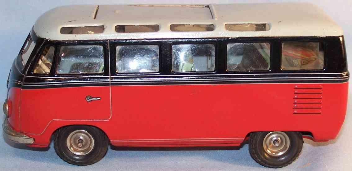 tippco 020 spielzeug vw samba-bus mit schwungradantrieb