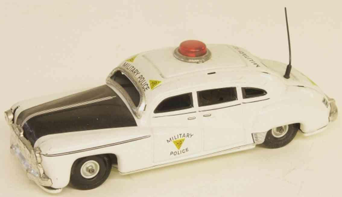 tippco 1011 blech spielzeug auto hudson militärpolizei in weiß und schwarz, blinklicht, anten