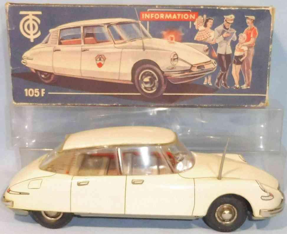 tippco 105f blech spielzeug auto citroen limousine 105f die goettin