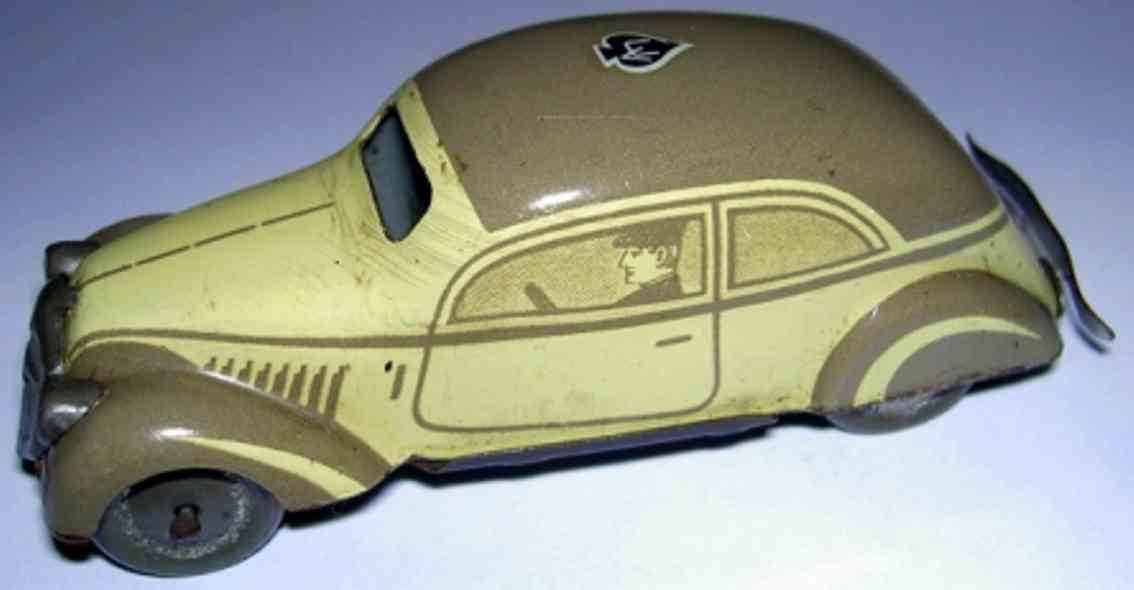 tippco 1251/7 blech spielzeug auto limousine mit aufgemaltem fahrer für elektrischen antrieb mi