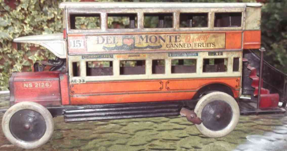 tippco 907 blech spielzeug autobus londoner bus 15f