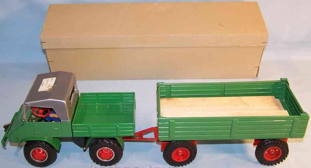 tippco 663 tin toy unimog supporter green