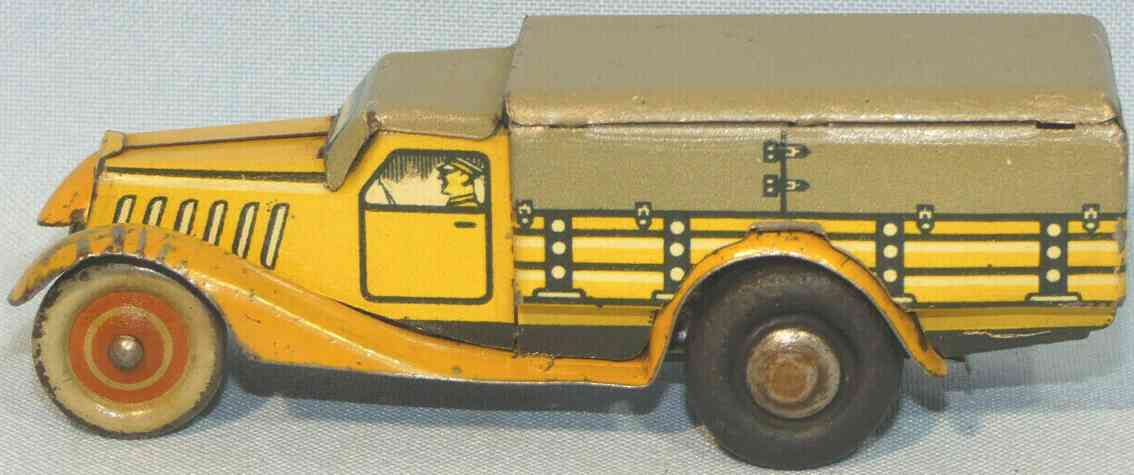 tippco 753 tin toy truck truck with clockwork without start and stop lever