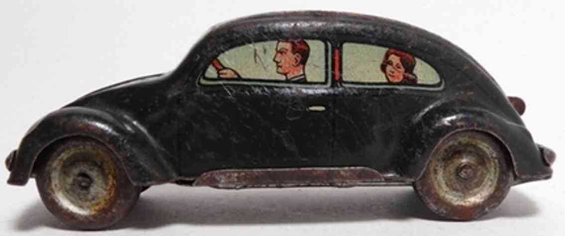 tippco 758 A tin toy car vw käfer split window with wind-up in monochrome spraying (l