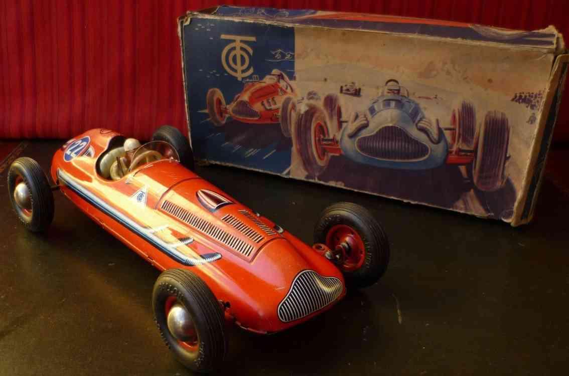 tippco 840 e blech spielzeug rennauto rennwagen mit uhrwerk rot