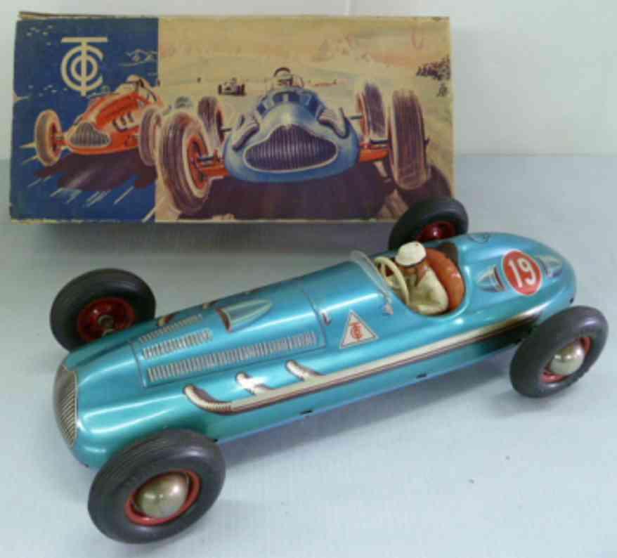 tippco 840f tin toy race racing car driver
