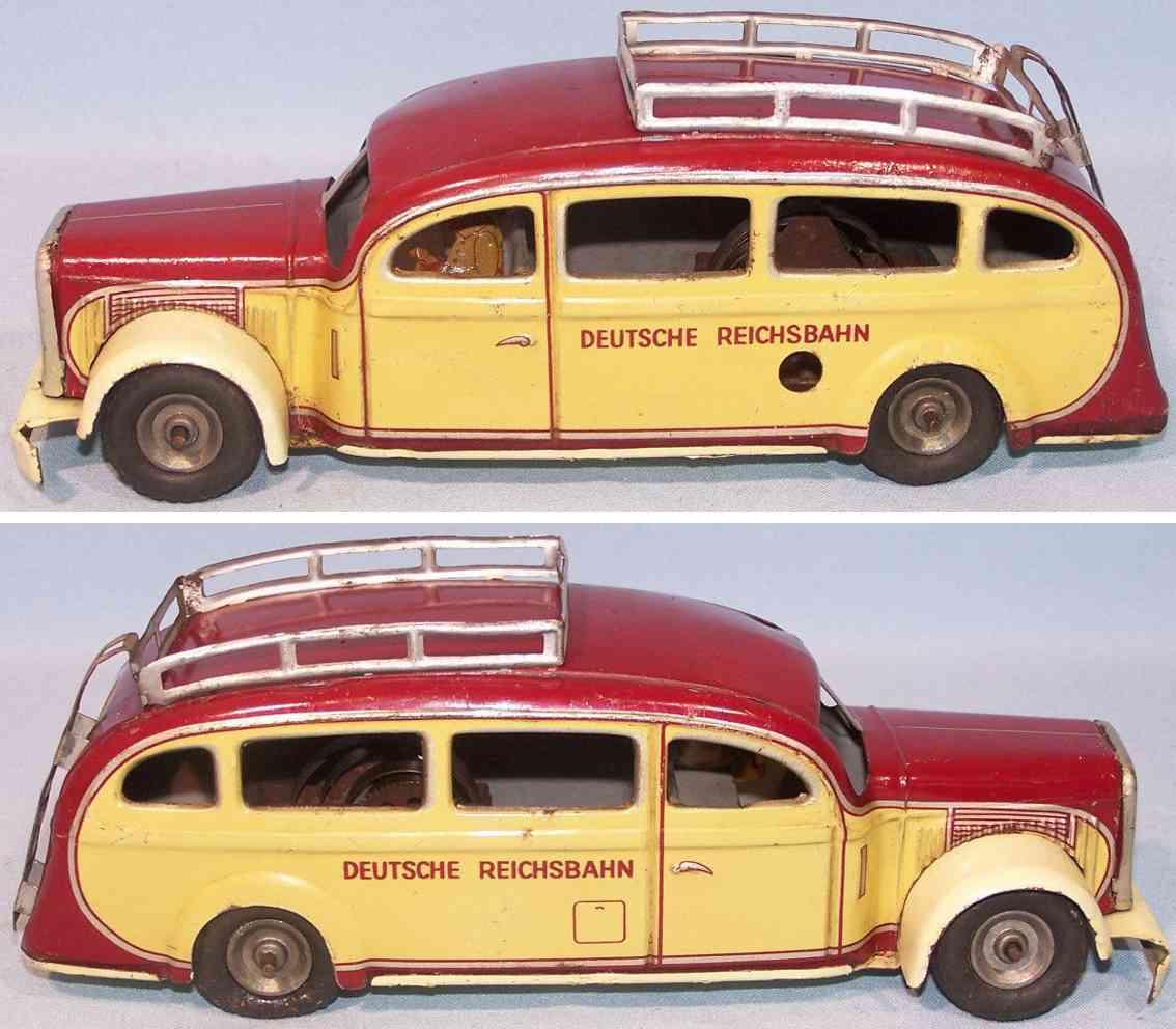 tippco 905 dr tin toy omnibus roof rack deutsche reichsbahn