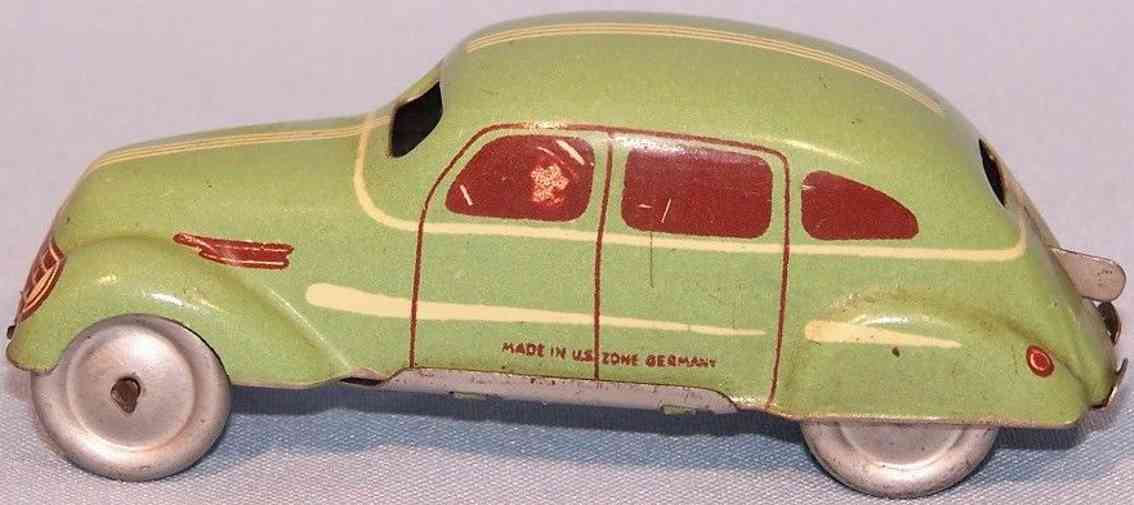 tippco blech spielzeug auto limousine adlerwagen uhrwerk gruen braun