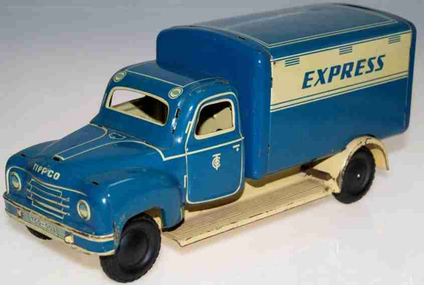 tippco tin toy truck hanomag express clockwork or flywheel