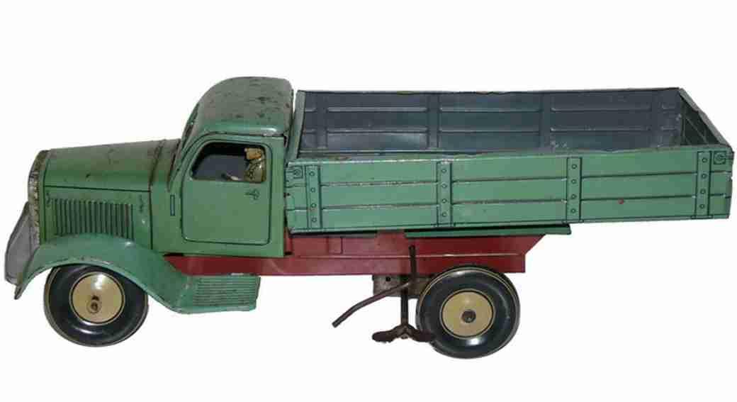 Tippco 122 Lastwagen zum Hochkippen litografiert mit Uhrwerkantrieb