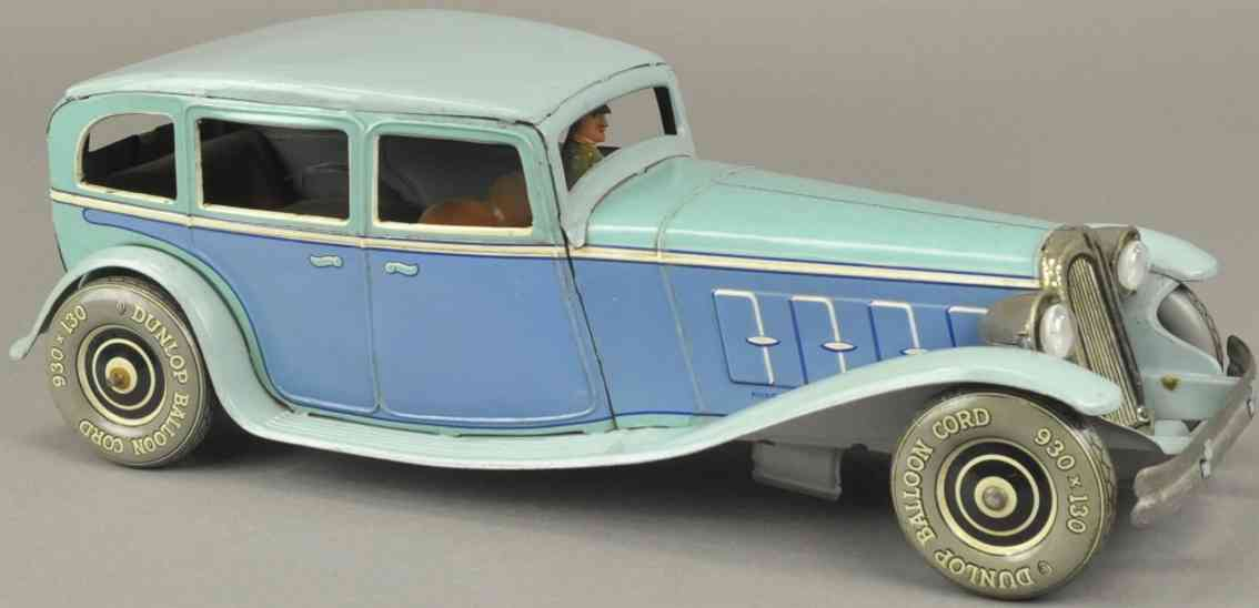 tippco blech spielzeug auto limousine blau fahrer