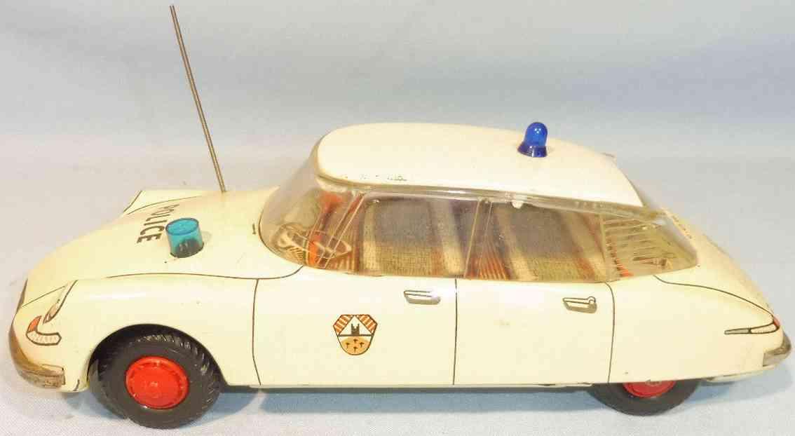 tippco blech spielzeug polizeiauto citroen ds schwungradantrieb