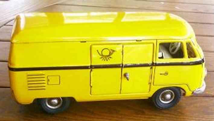 tippco gelb tco  020 blech spielzeug autobus post vw kastenwagen