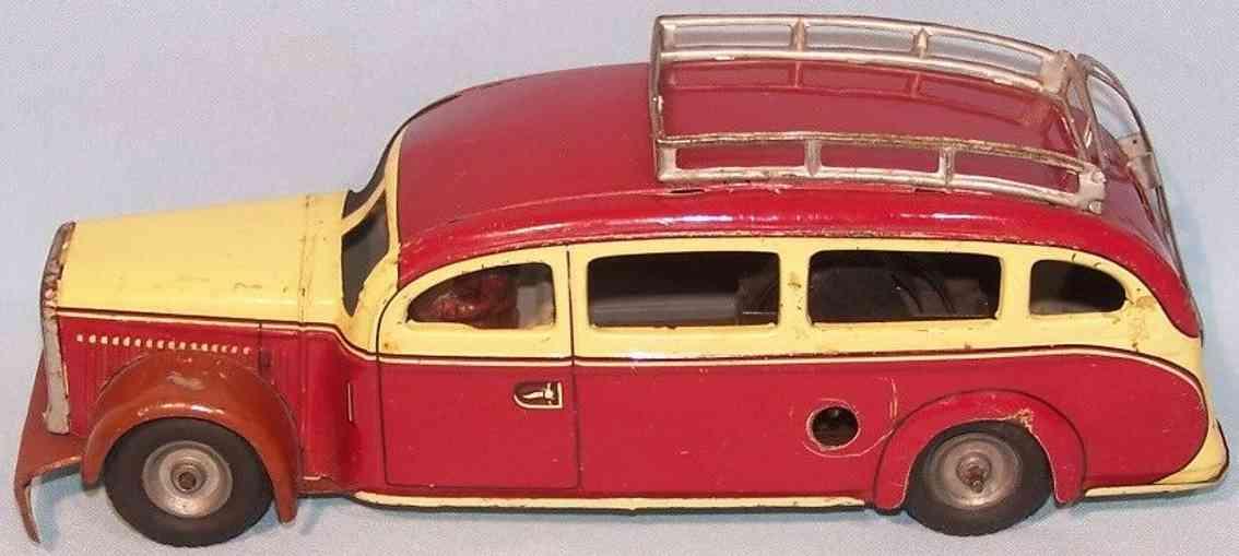 tippco tc 905 tin toy omnibus roof rack deutsche reichsbahn