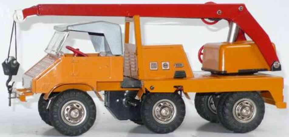 tippco 670 tin toy unimog rane arm orange