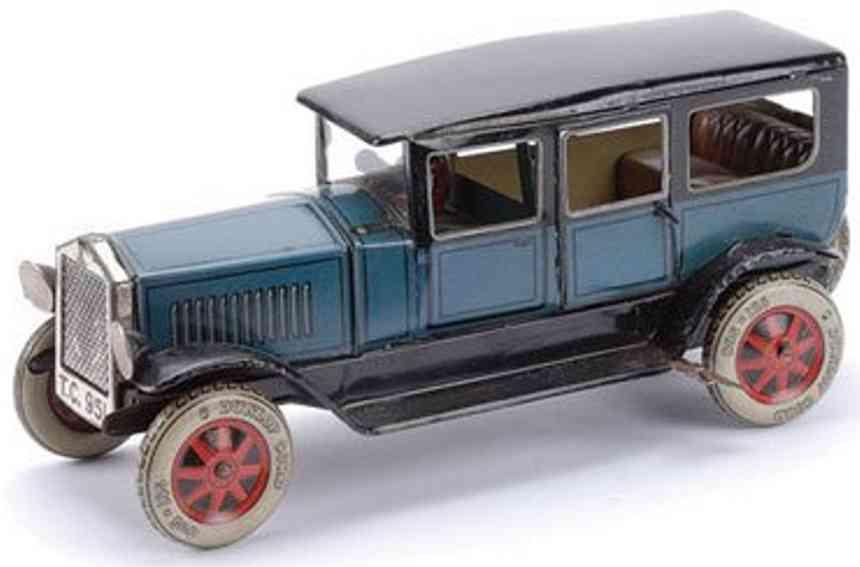 Tippco Oldtimer Limousine mit Uhrwerk in blau