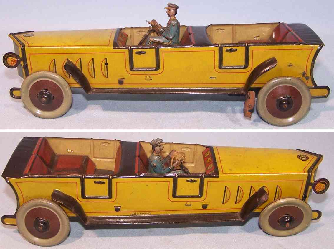 tippco tin toy car cabriolet with clockwork