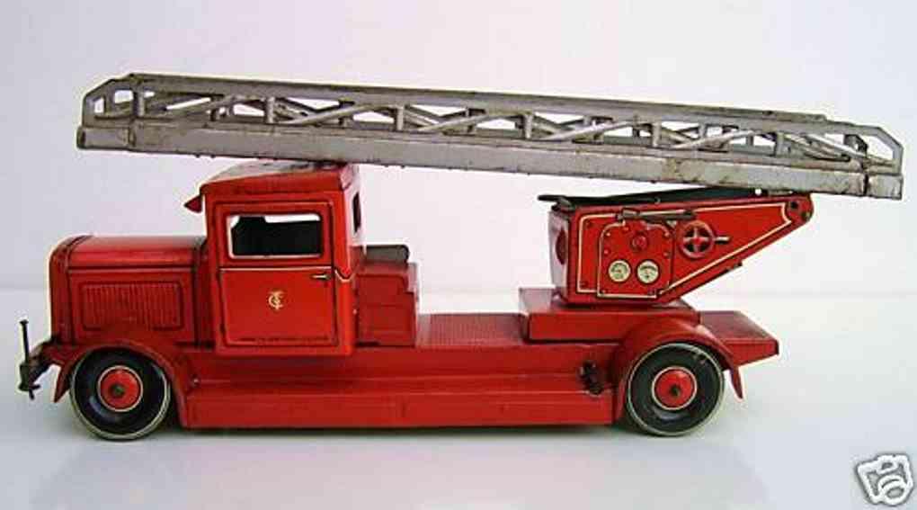 Tippco Feuerwehrauto mit Drehleiter