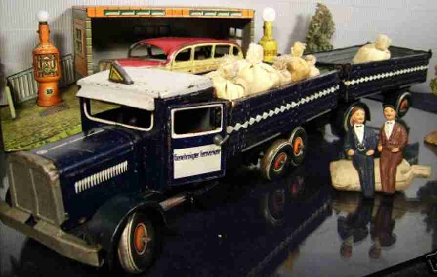 tippco 154 blech  lastwagen genehmigter fernverkehr blau