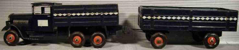 tippco 144/4 blech spielzeug lastwagen anhaenger genehmigter fernverkehr