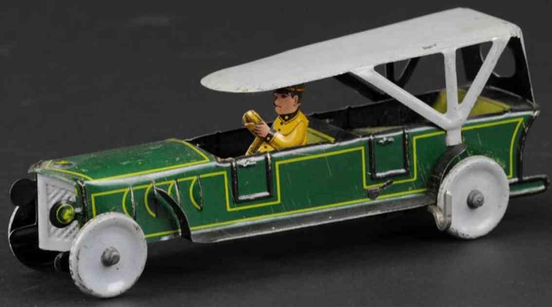 tippco blech spielzeug auto tourenwagen gruen uhrwerk