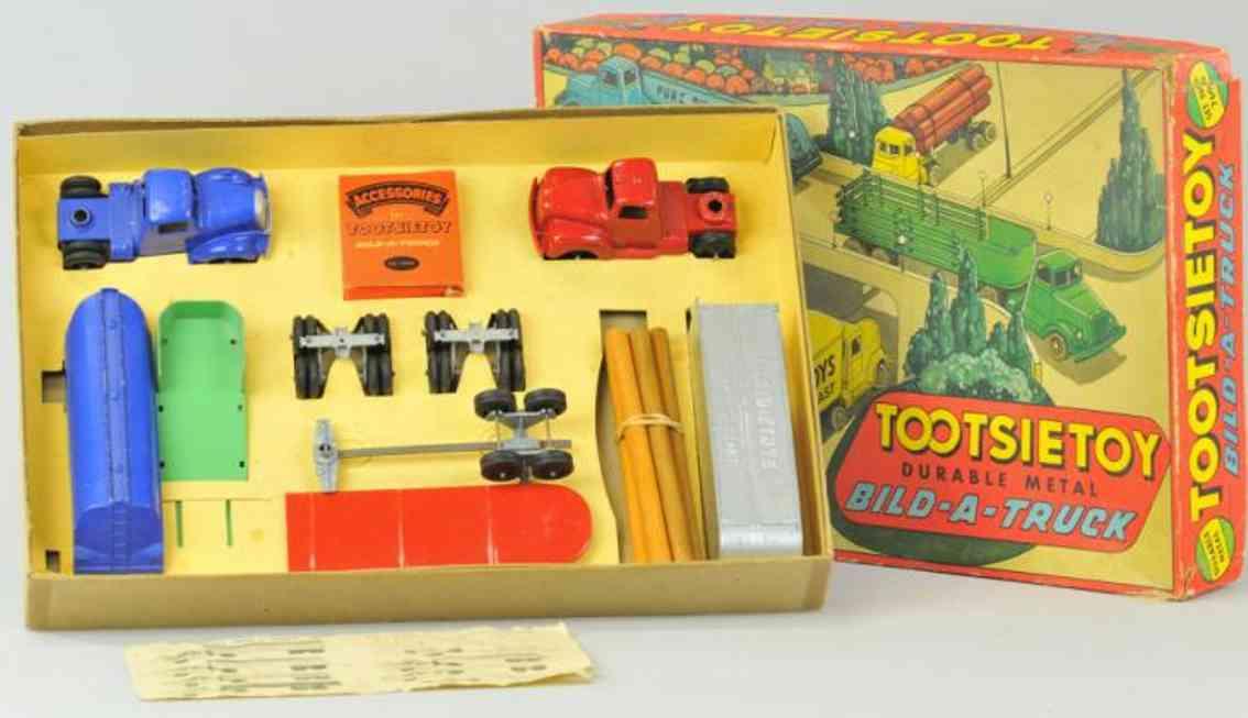 tootsietoy 7600 die-cast toy truck bild-a-truck set