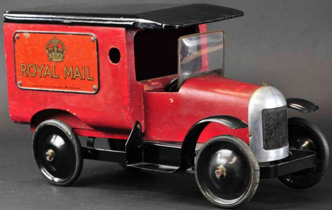 tri-ang 2791 spielzeug holz metall englischer postwagen oyal mail rot