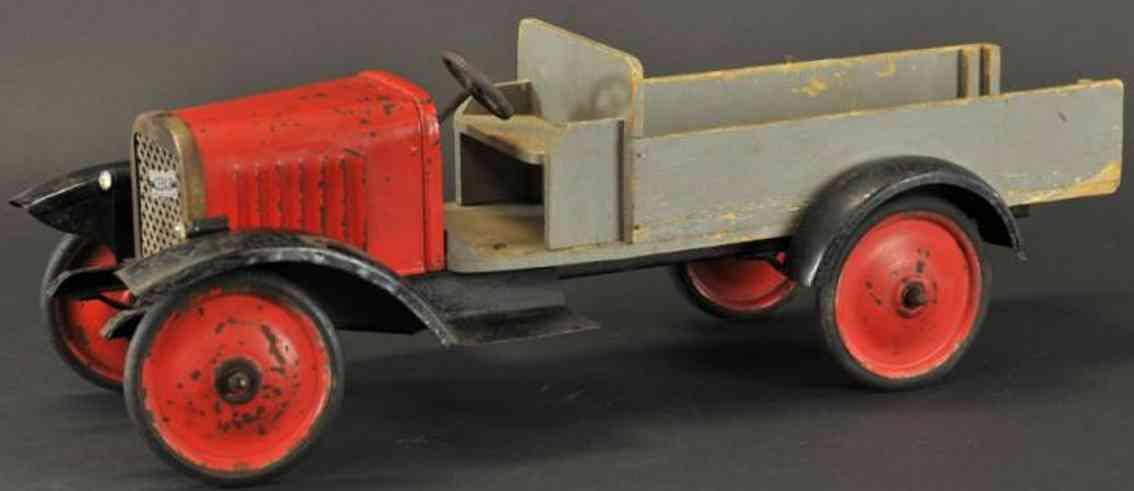 tri-ang blech spielzeug lastwagen milch-lastwagen mit maschinenkühlergrill, elekterolichtern,