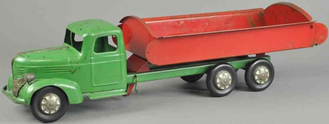 turner toys 42648 spielzeug dodge kipplastwagen stahlblech rot gruen